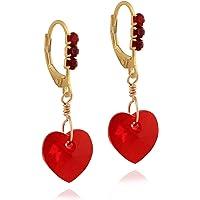 Surgical Steel Earrings for Girls: Dangle Earrings for Women - Swarovski Earrings Hoop Earrings - Heart Earrings Jewelry…