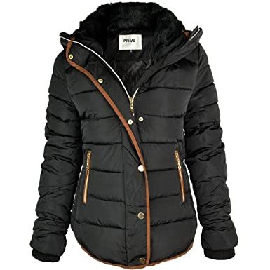 Prime Ladies Puffer Jacket Quilted Padded Warm Thick Womens Jacket Coat  Pr-01 (PR1 4ee49c2c97