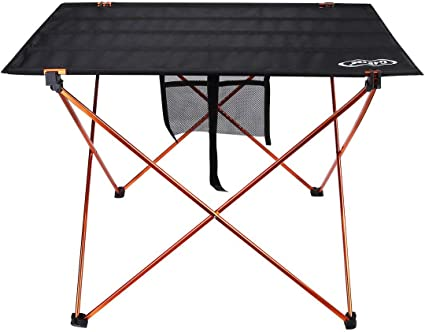 Boat Beach Picnic Tailgate 22 L x 16 W x 16 H Sportneer Ultralight Camp Folding Side Table Portable Camping Tables with Mesh Storage Bag M Backpacks Aluminum Table Top Great for Camp
