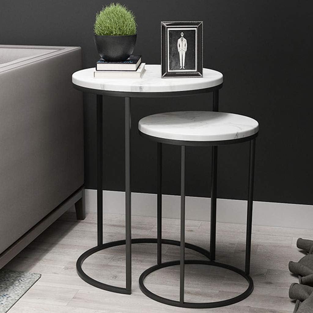 Aanbiedingen LAMXF bijzettafel woonkamer modern set van 2 moderne stijlvolle bijzettafels bijzettafels salontafel marmeren plaat - metalen basis woonkamer nachtkastjes zwart 4sgO93Z