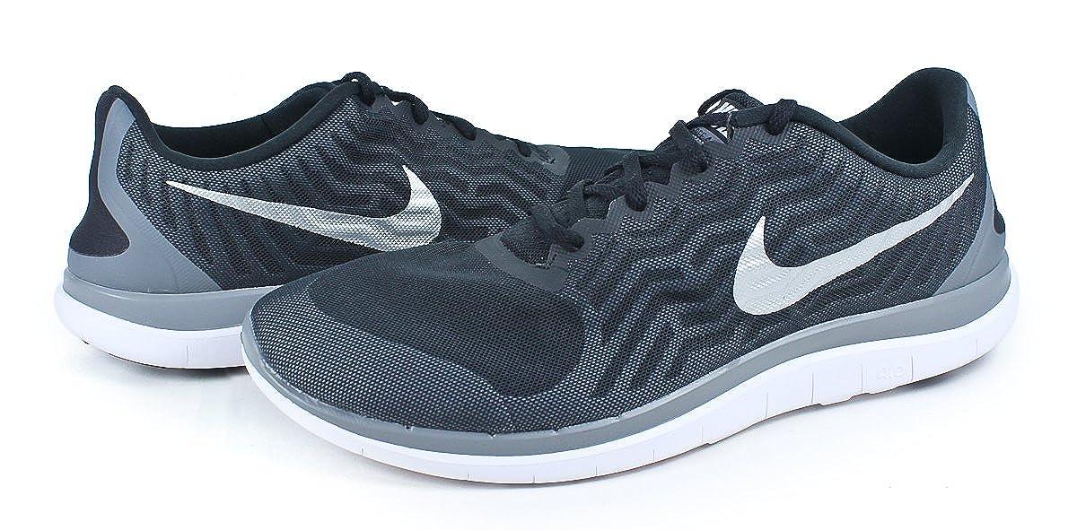 Nike Herren Free 4. 0 V5 Running Shoe BlackMetallic Silver