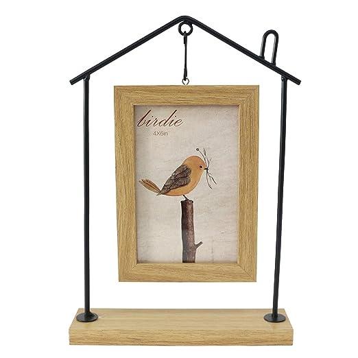 jarown creativo de madera marco de fotos de hierro manualidades ...