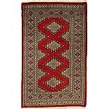 Pakistan Bokhara 2ply rug 2 #39;5 quot;x3 #39;11 quot; (73x120 cm) Oriental Carpet