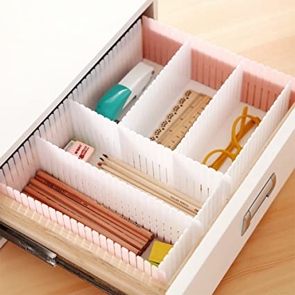 AMTopshow Flexible DIY Dresser Drawer Dividers Storage Organizer For Bra  Panty Socks Tableware Medicine Sort,