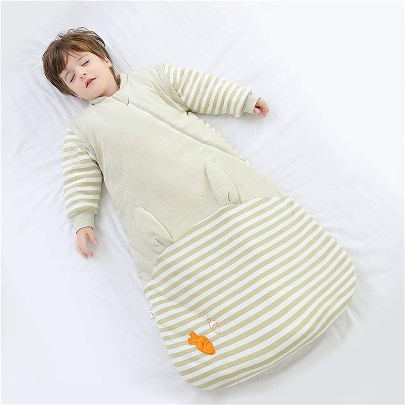 Braun Chilsuessy Kinderschlafsack Baby Winterschlafsack Vorne 3.5 Tog und hinten 2.5 Tog Schlafsaecke aus GOTS Bio Baumwolle Verschiedene Groessen von Geburt bis 4 Jahre alt S//Koerpergroesse 60-70cm