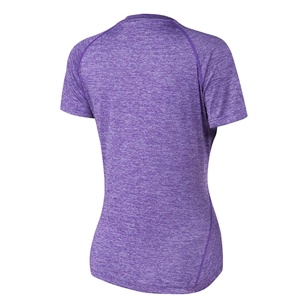 Sidiou Group T-Shirt Running Femme Manche Courte Tee Shirt Sechage Rapide Vetement de Sport T Shirt Fitness Gym Training Football Jogging Cyclisme