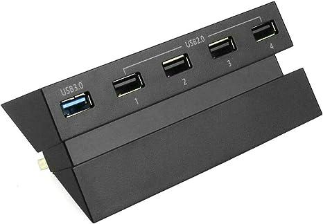 Rehomy Ps4 Expansor Hub Adaptador de Alta Velocidad USB 3.0 2.0 de ...