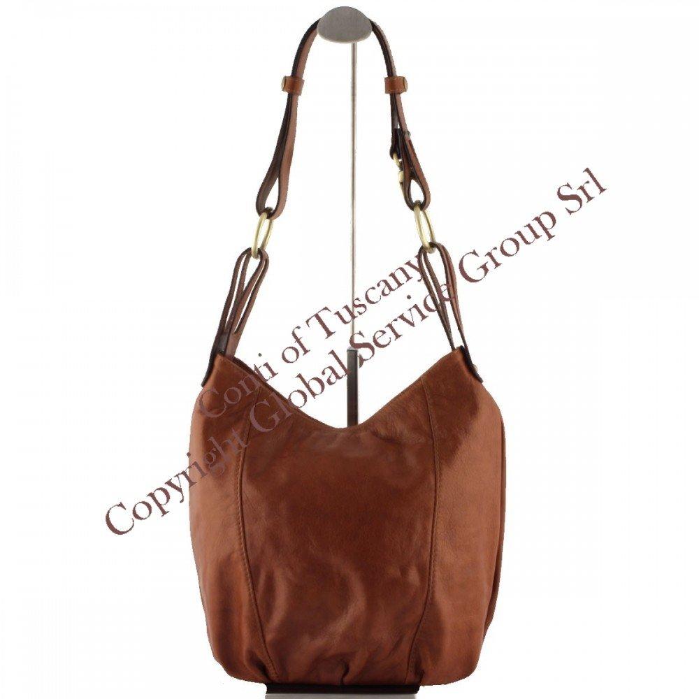 a98ea30713a38 Beutel Tasche Leder Braun - Lederwaren - Damentaschen  Amazon.de  Schuhe    Handtaschen