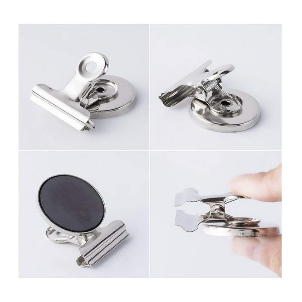 Zuzer 20 PCS Clips Magn/éticos Clip Iman Nevera Imanes Pinzas 31 38 mm Clips de Metal Utilizado para Cocina de Oficina Escolar Fotos Plata