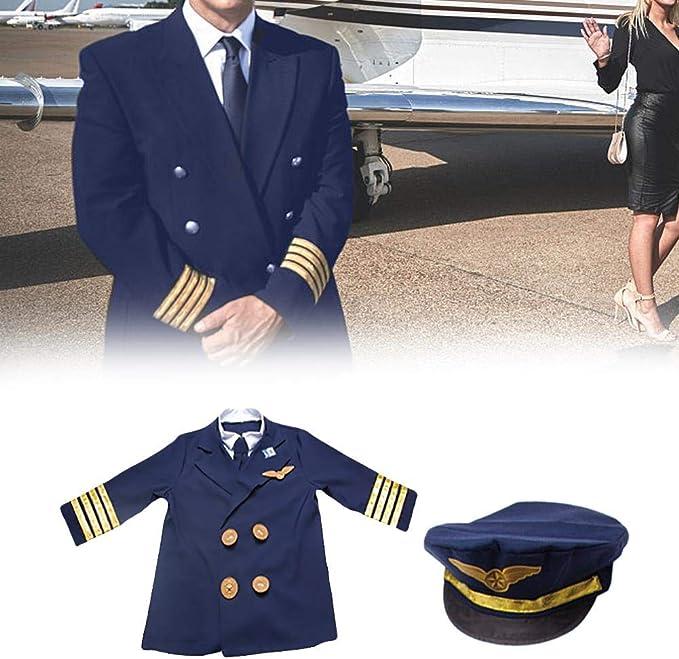 HEIRAO Juego de Disfraces de Juego de rol de piloto Infantil, 6 ...