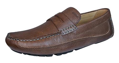 Geox U Melbourne A Monet V Zapatos de Cuero para Hombres/Mocasines-Brown-
