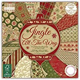 First Edition - Blocco di fogli di carta FSC, motivo: Jingle All the Way, 15 x 15 cm, multicolore