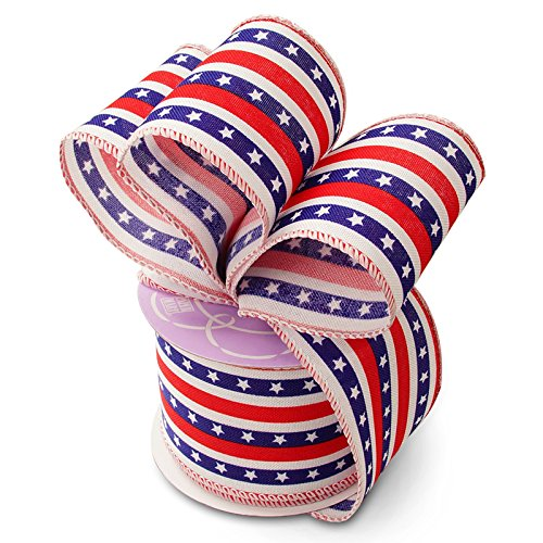 (Stars and Stripes Patriotic Ribbon - 2 1/2