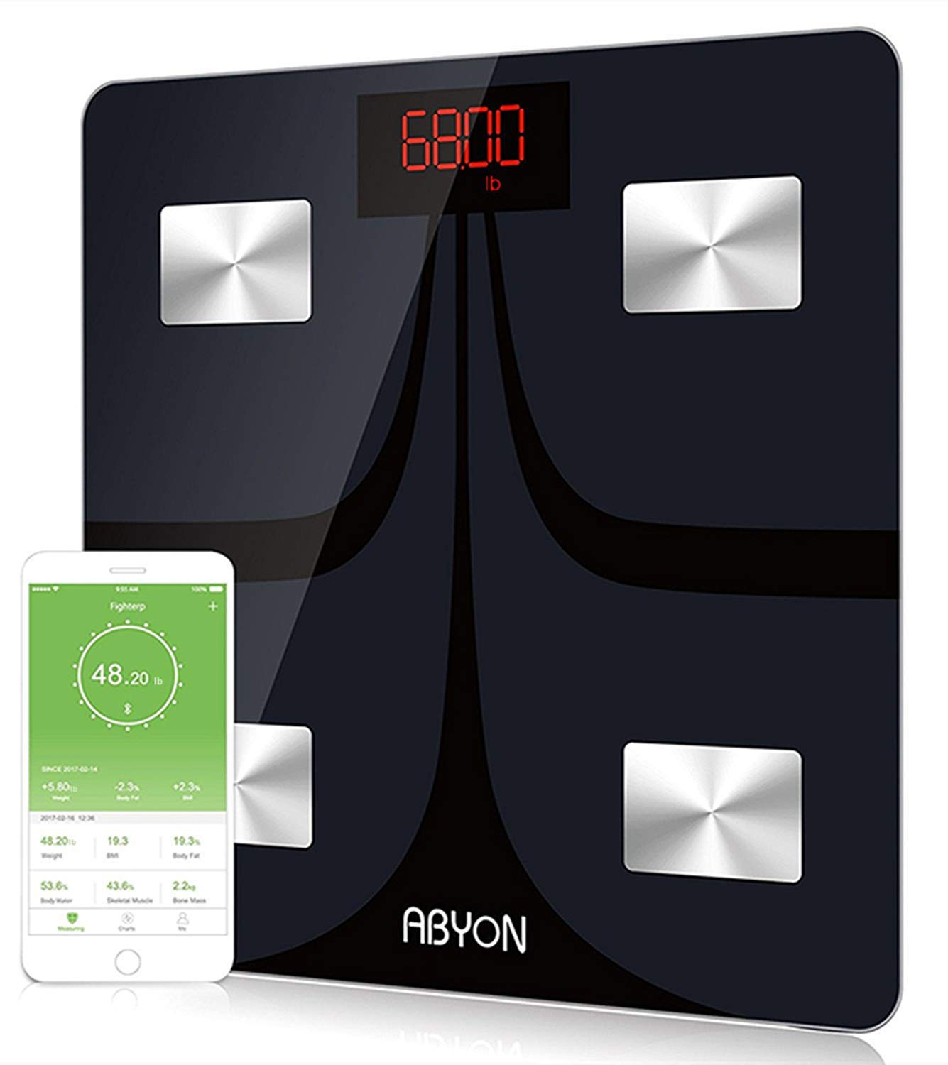 Bluetooth Scales Digital Weight and Body Fat Scale -FDA Approved- Body Composition Analyzer with Cell Phone APP- Wireless Digital Bathroom Smart BMI Scale,400 lbs
