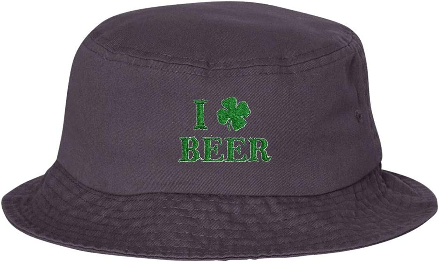 Go All Out Adult I Shamrock Beer Embroidered Bucket Cap Dad Hat