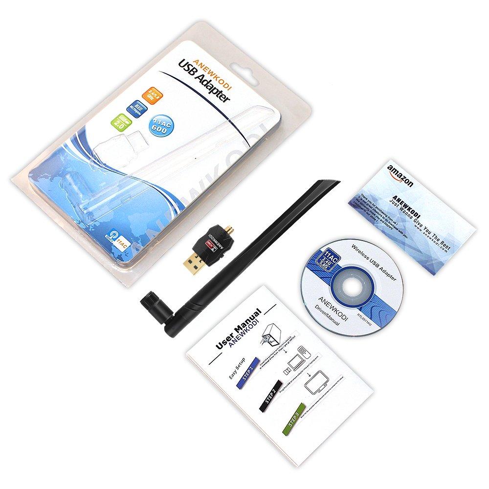 ANEWKODI USB Wifi Adapter Wireless Network Card 5dBi 2.4GHz/5GHz Dual Band 802.11AC Wireless Card for Desktop/Laptop/PC,Support Windows 10/8/7/Vista/XP/2000/Mac Os 10.4-10.12.4 by ANEWKODI (Image #7)