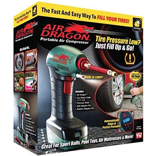 Bulbhead Air Dragon Portable Air Compressor Pump Tire Inflator As Seen On TV ()