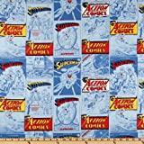 44'' Wide Superman Comics Blue Fabric By The Yard