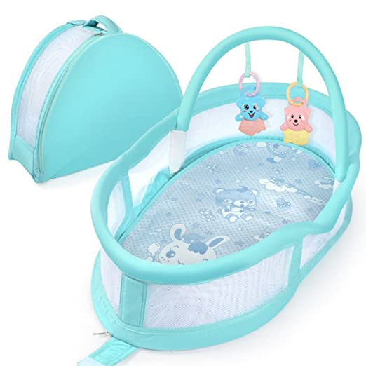 Amazon.com : Aik@ Portable 100% Cotton Foldable Baby Bed ...