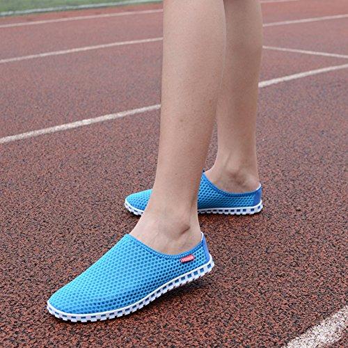 Eagsouni® Malla Zapatos para Correr Zapatillas de Deporte Deportivas Casuales Running Padel para Hombre Gris