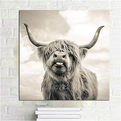 Home Decor Leinwand Gemälde Kein Rahmen Yak Poster Nordic Cow Bild Ungerahmt