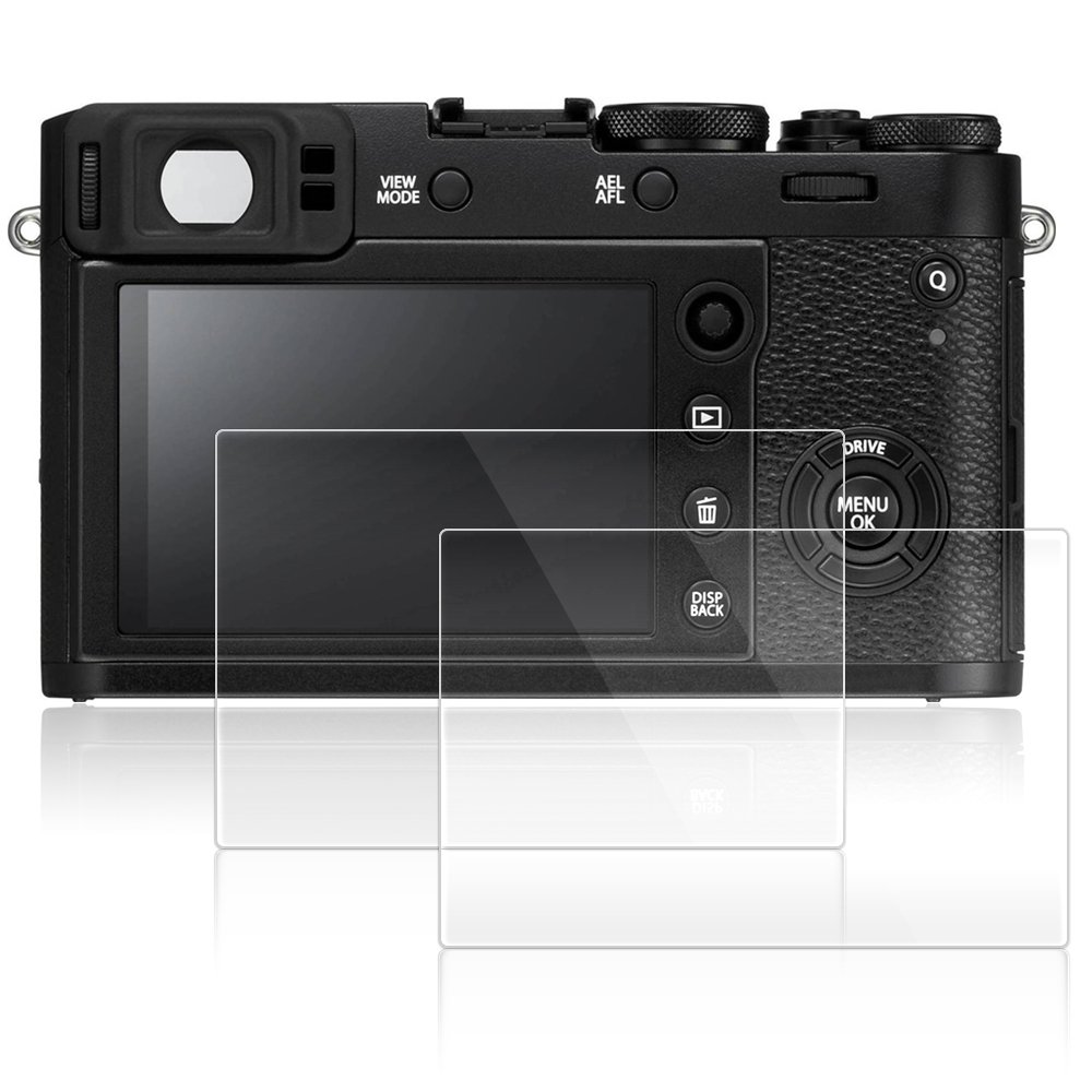 Screen Protectors for Fujifilm X100F / X100T / X-E2 / X-E2S, AFUNTA 2 Pack Anti-Scratch Tempered Glass Protective Films for DSLR Digital Camera AF-X100F_cover