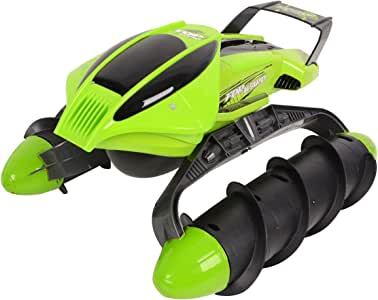 Costzon 2.4G Electric Amphibious RC Tank Stunt Car Land Water Remote Control Toy Gift
