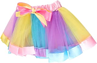 BESTOYARD Arcobaleno Tutu Gonna Vestito Balletto Bambini Cosplay Costume Set (L)