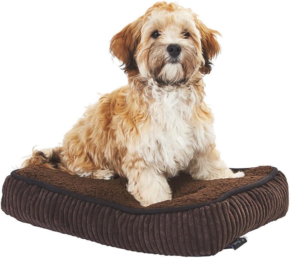 Bunty Snooze - Cama de Forro Polar Suave para Perro o Mascota, cojín de Almohada – Hecho en el Reino Unido – XS