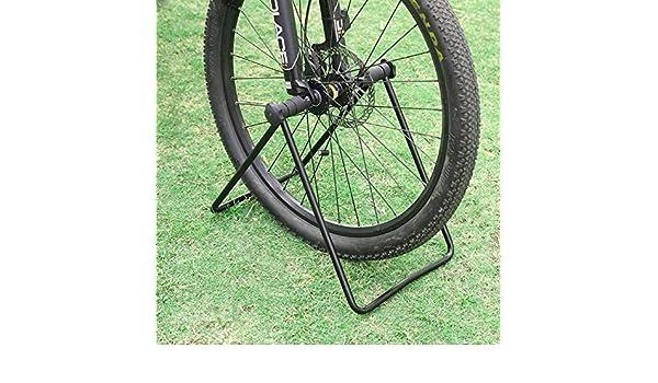 Folding Bike Bicycle Stand Floor Storage Rack Wheel Hub Repair Holder Parking