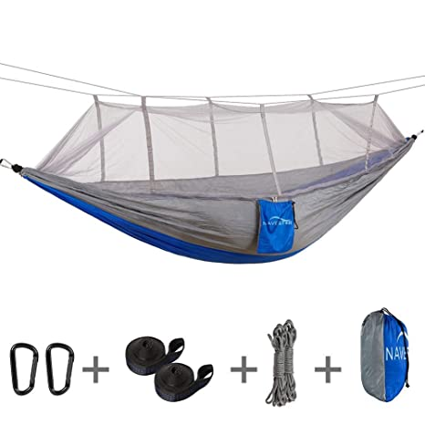 Hot Sale Single Double Hammock Adult Outdoor Backpacking Travel Survival Hunting Sleeping Bed Portable With 2 Straps 2 Carabiner 2019 Latest Style Online Sale 50% Home