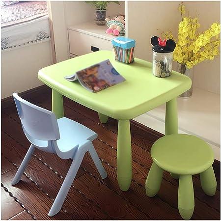 LIANGJUN Juegos De Mesa Y Sillas for Niños Taburete De Mesa for Niños Escritorio Aprender Dibujo Bajo Techo, En Exteriores Jardín De Infancia Habitación Sala De Juegos, 6 Colores (Color : D):