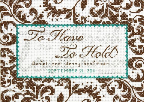 Treasured Words Wedding Record Mini Counted Cross Stitch Kit