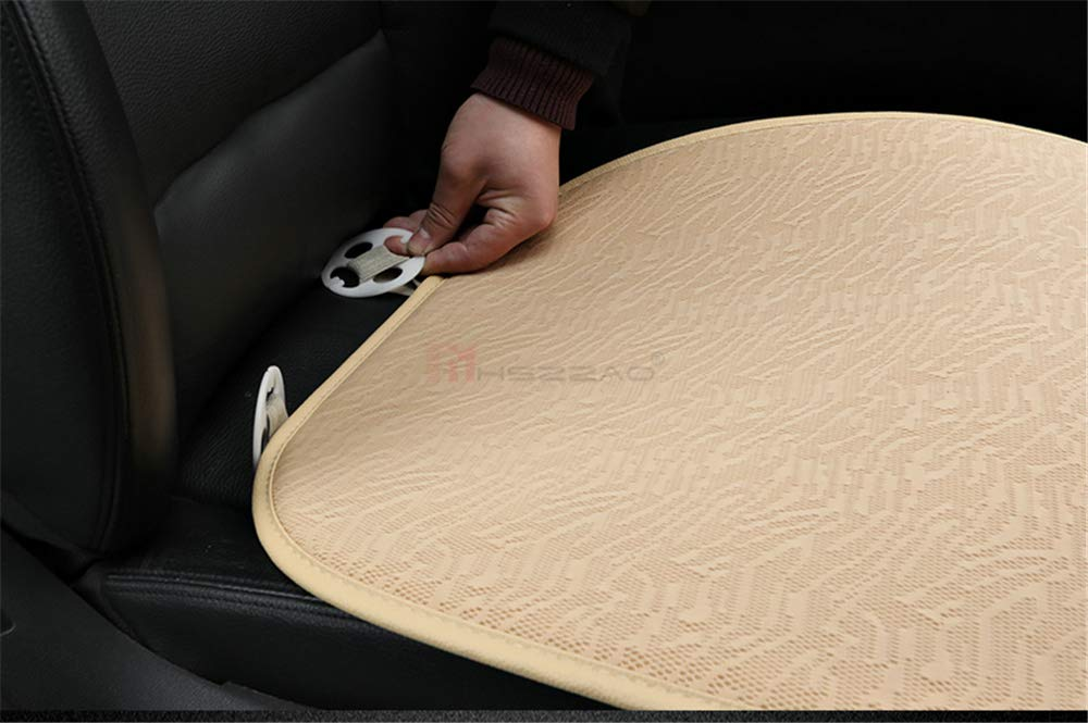 Beige MHSZZAO Ultra-Luxury Single Seat Without Backres Car seat Protection car seat Cover Car-Styling for Most Four-Door Sedan/&SUV