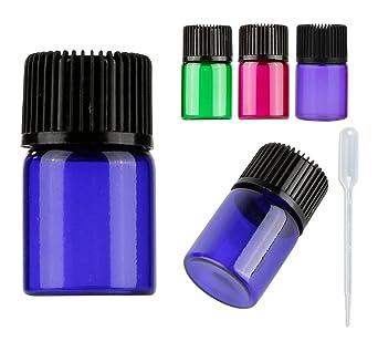 30 botellas de aceite esencial coloridas de 2 ml, mini 5/8 vasos de