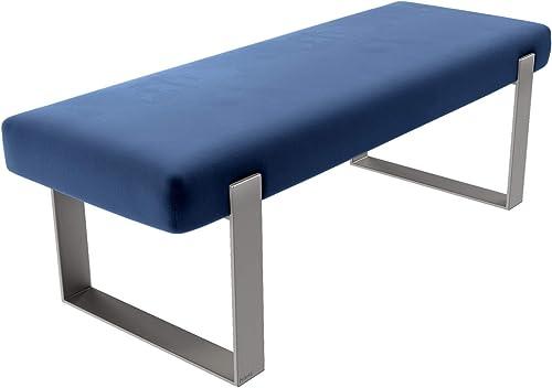 Vant Upholstered Bed Bench – Velvet Navy