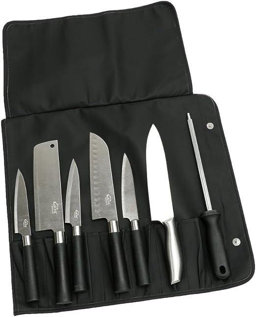 Bolsa de papel multiusos para cuchillos de chef portátil, 8 unidades fácilmente transportadas a presión para cocineros,cocineros,estudiantes culinarios: Amazon.es: Hogar