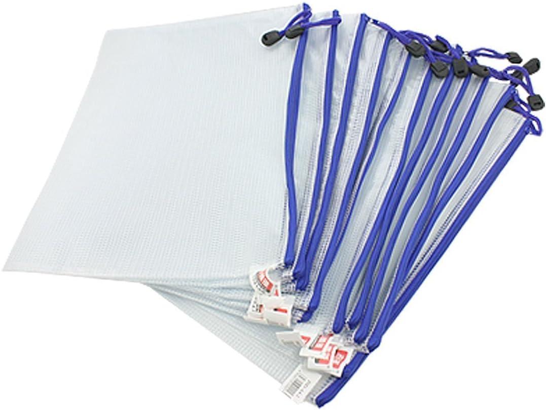 5/Pcs PVC Folder Pack PVC Wallet Zip Document Wallet A6//School Office A6/Document File Magazine Zippy Closure Folder Holder Bag A6 white