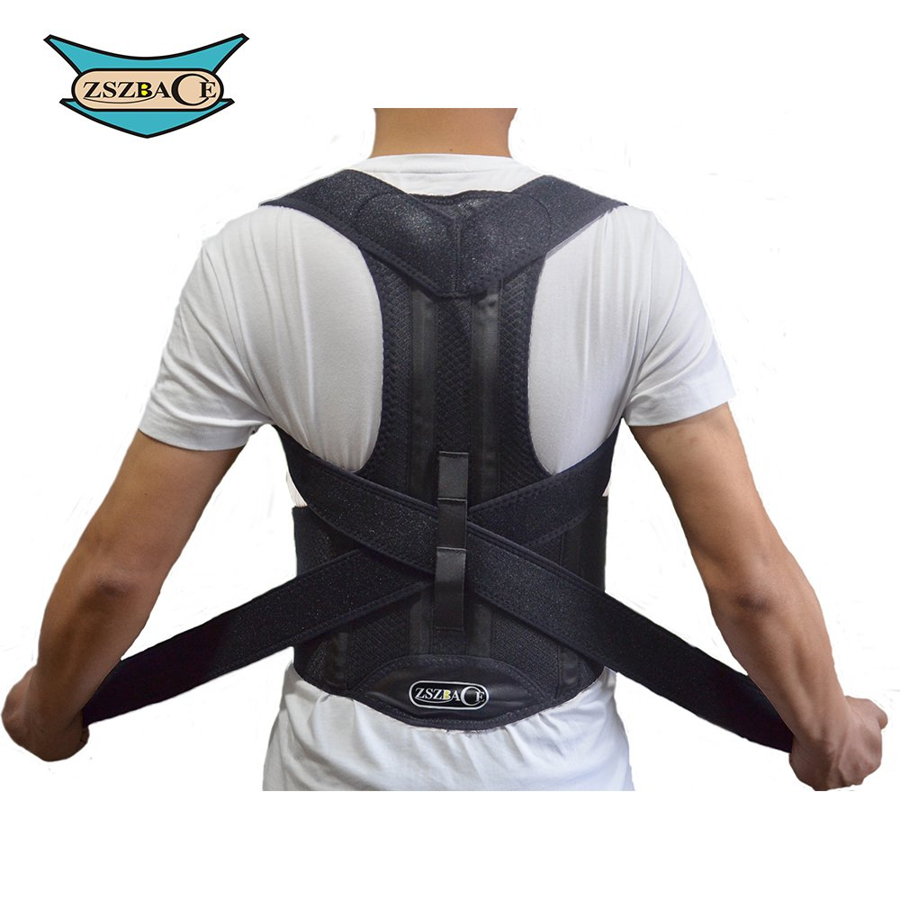ZSZBACE Back Brace Posture Corrector Clavicle Support Brace Medical Device to Improve Bad Posture, Thoracic Kyphosis, Shoulder Alignment, Upper Back Pain Relief for Men and Women (L)