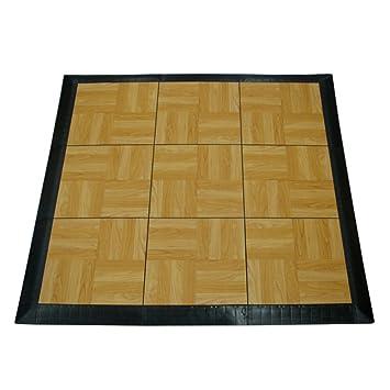 Greatmats Portable Dance Floor 9 Tiles Tap Kit Light Oak By