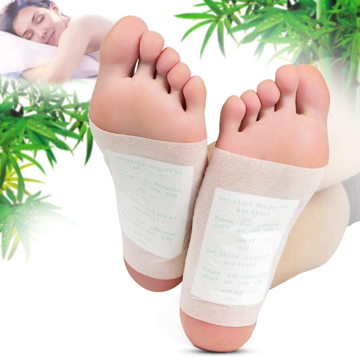 Foot Pads - (100pcs) Natural Cleansing Foot Pads for Foot Care, Sleeping & Anti-Stress Relief, No Stress Package - 100 Packs: Health & Personal Care