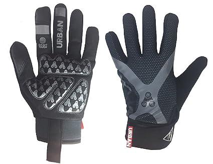 b4b93b2aa1d Amazon.com   Urban Cycling Full Finger Gloves - Touch Screen Finger ...