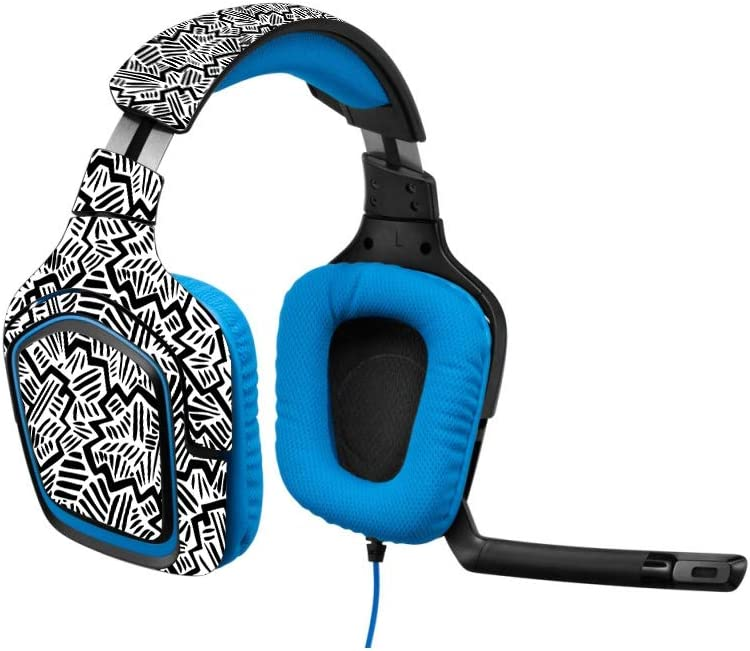 Easy to Apply Made in The USA Remove Durable Protective MightySkins Skin Compatible with Logitech G430 Gaming Headset and Change Styles and Unique Vinyl Decal wrap Cover Abstract Black