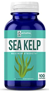 Ahana Nutrition Organic Sea Kelp – Natural Iodine Supplement for Thyroid Support, Energy, Stamina