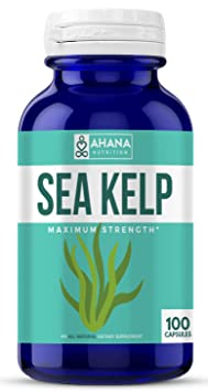 Ahana Nutrition Organic Sea Kelp – Natural Iodine Supplement For Thyroid Support, Energy, Stamina And Hair And Nail Health (150mcg   100 Capsules) by Ahana Nutrition