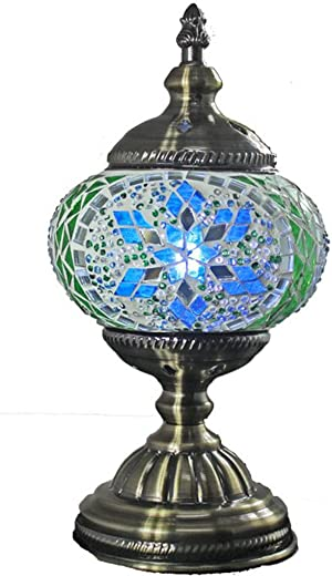 RADIANCE goods Tiffany-Style 1 Light Butterfly Accent Table Lamp 9 Tall