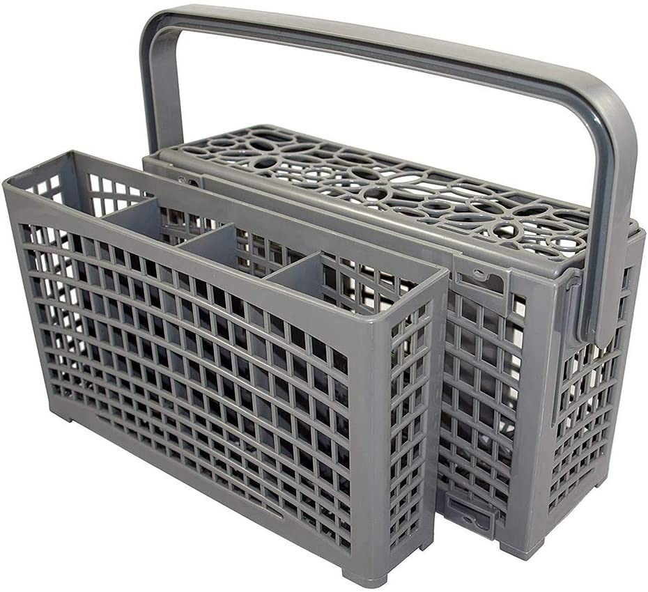Universal Dishwasher Silverware Replacement Basket - Utensil/Cutlery Basket - Fit For Bosch, Maytag, Kenmore, Whirlpool, KitchenAid, LG, Samsung, Frigidaire, GE (Grey)