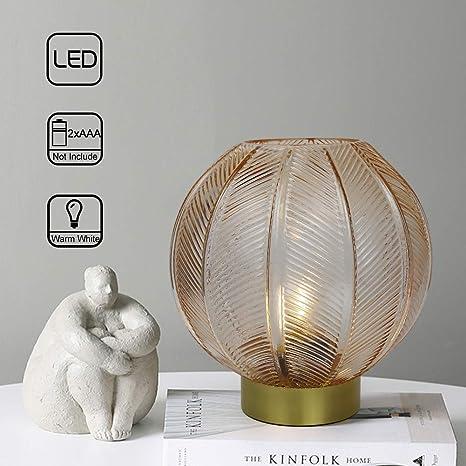Amazon.com: MJ PREMIER Lámpara de mesa de noche, lámpara de ...