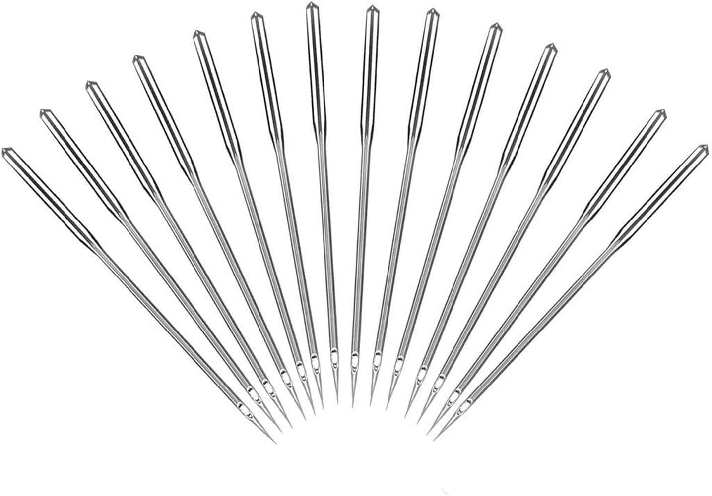 LIVINO Sewing Machine Needles, Pack of 50 Universal Sewing Machine Needles with Sizes 65/9, 75/11, 100/16, 110/18 & 90/14 Sewing Machine Needles, 10 Pcs per Size