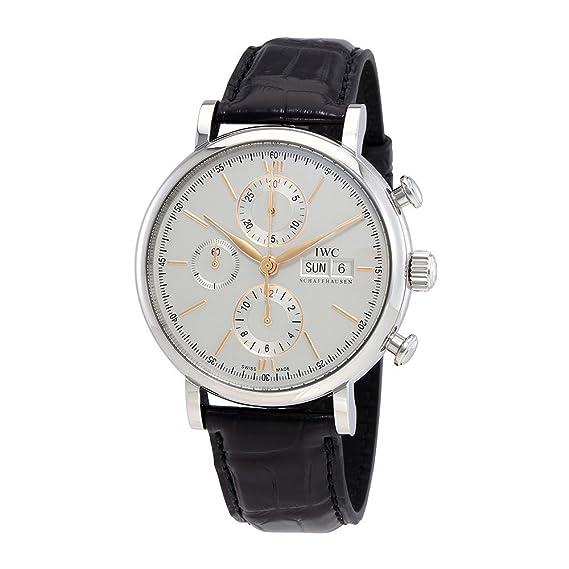 IWC Swiss acero inoxidable Casual reloj automático de hombre, color: negro (modelo: